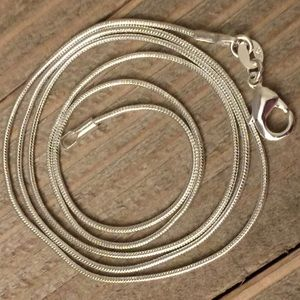 22 Inch Sterling Silver Snake Chain